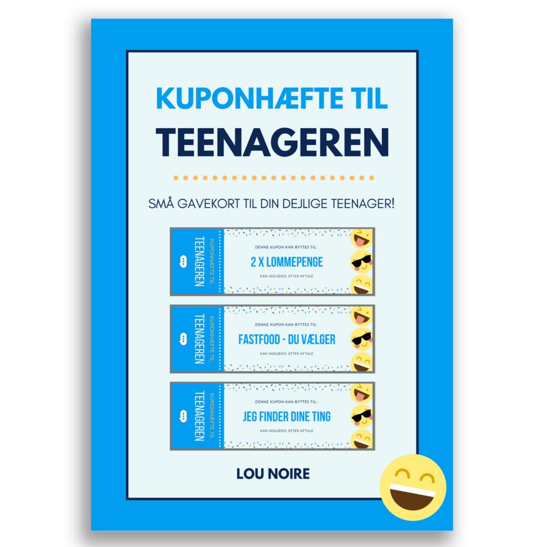 Kuponhæfte til teenageren - blå