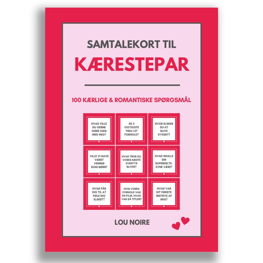 Samtalekort til kærestepar - forside
