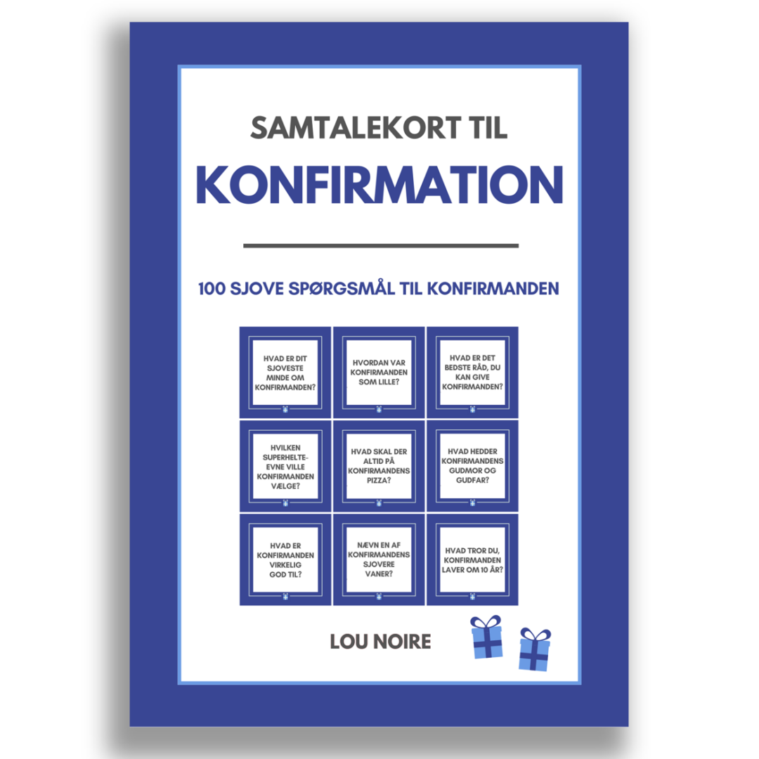 Samtalekort til konfirmation - blå - cover