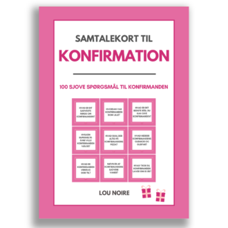 Samtalekort til konfirmation - cover
