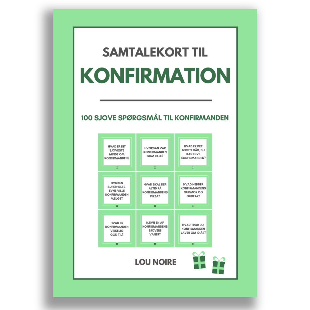 Samtalekort til konfirmation - grøn - cover
