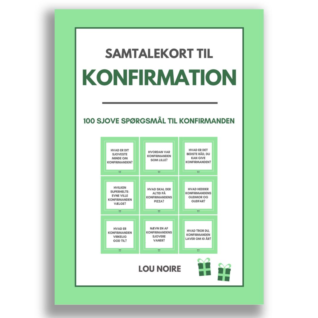 Samtalekort til konfirmation - grøn - cover
