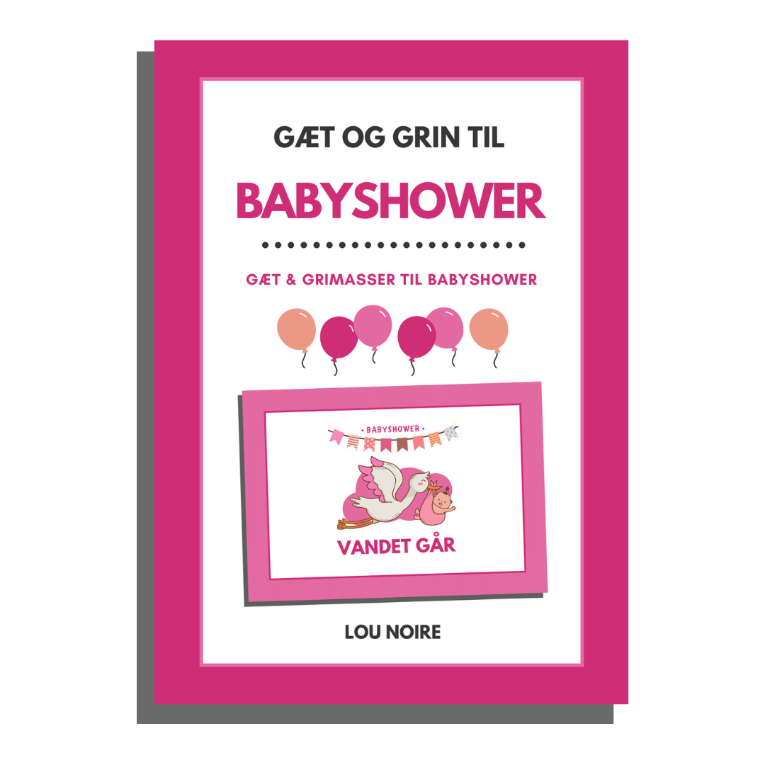 Gæt og grin til babyshower - cover