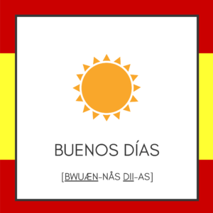 Spil med ord på ferien - Spanien - Buenos dias