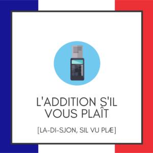 Spil med ord på ferien - Frankrig - Lou Noire - L'addition s'il vous plait