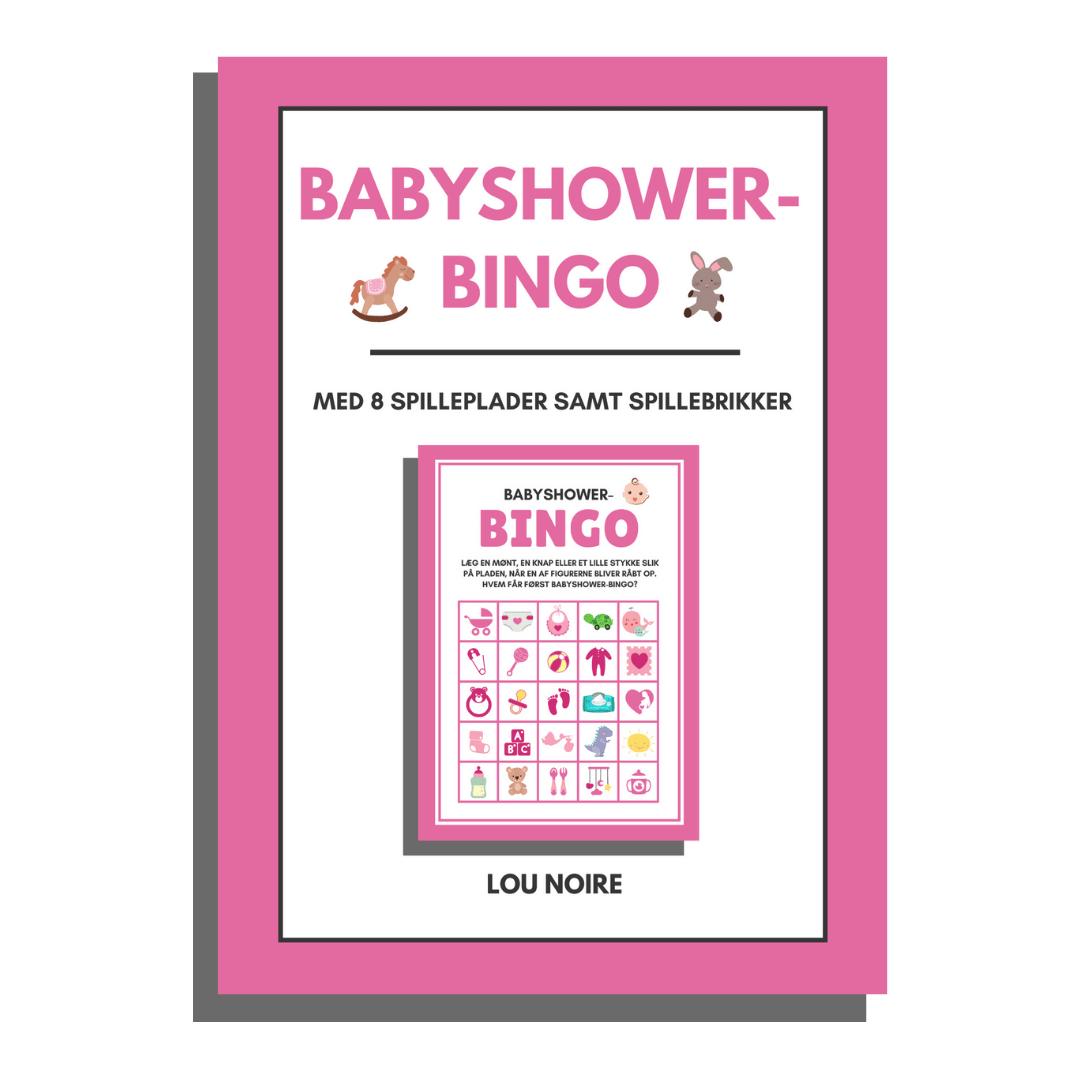 Babyshower-bingo - Pink - Lou Noire - cover